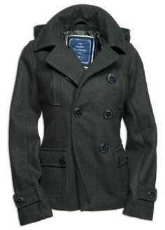 """Surplus Lady"" Designer-Jacket ""Ladies Pea Coat"" in various colours: Amazon.co.uk: Clothing"
