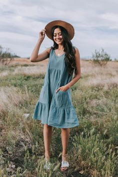 Country Girl Style, Country Girls, My Style, Summer Fashion Outfits, Girl Fashion, Casual Outdoor Weddings, Senior Picture Outfits, Light Teal, Dress First