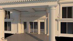 Element decorativ fatada salon nunti Videle coloane Venus, Palace, Garage Doors, Exterior, Outdoor Decor, Design, Home Decor, Decoration Home, Room Decor