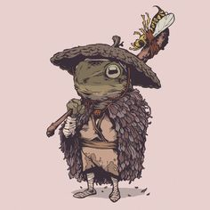 Illustration for article titled We Want to Read a Comic Book About These Amazing Samurai Frogs Art And Illustration, Character Illustration, Inspiration Art, Art Inspo, Character Inspiration, Character Concept, Character Art, Concept Art, Fantasy Kunst