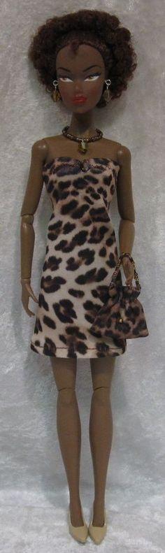 Dynamite Girls MONSIEUR Z Poppy Parker Doll Clothes #02 Dress, Purse, Jewelry #HandmadebyESCHdesigns