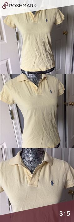 Lemon Colored Polo Lemon Colored Polo from Ralph Lauren! In great condition! Very comfortable! Size-M. #yellow #lemon #ralphlauren #polo #shirt Ralph Lauren Tops Button Down Shirts