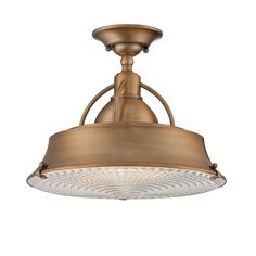 Aurora Lighting Mystic Copper Finished Semi-Flush Mount - Close To Ceiling Light Fixtures - Amazon.com