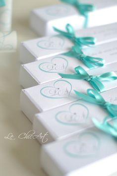 Partecipazione matrimonio mod. pergamena Tiffany Blue