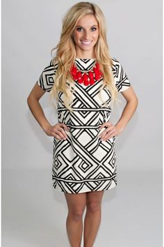 Rorschach Black And White Dress - New Arrivals