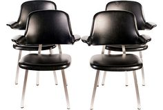 1960s Shaw-Walker Chairs, Set of 4 on OneKingsLane.com