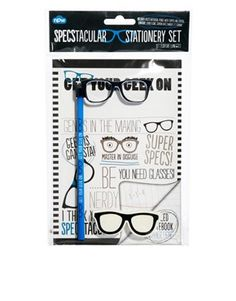 Geek Glasses Stationery Set...I have the moustache version!!!