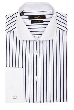 Schoffa-Kent Navy Stripe Men's Shirt