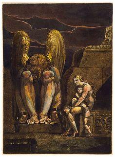 William Blake, Spectre of Urthona speaks to Shade of Enitharmon