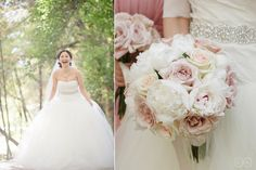 blush and ivory bridal bouquet, peonies and rose bouquet
