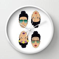 FOREVER SUMMER 2.1 Wall Clock by XO ROSE  $30.00#flower crown    #brunette Belliage Hair, Flower Crown, Clock, Rose, Wall, Flowers, Summer, Accessories, Crown Flower