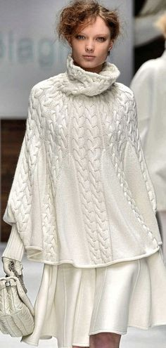 Knitting Pattern Aran Cape : Wisteria, Sleeve and Ponchos on Pinterest