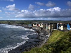 The surf town of Lahinch on the west coast of Ireland