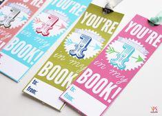 Cute class valentines: Printable bookmarks #valentinesforkids
