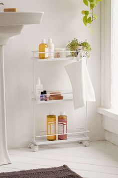 Tower Bathroom Storage Cart