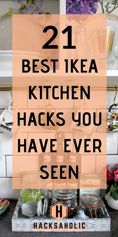 Keeping your kitchen looking great and organized can be difficult, but Ikea kitchen hacks are here to help. Find loads of great ways to use kitchen hacks to update, organize and add storage to… Ikea Kitchen Storage, Kitchen Ikea, Diy Kitchen Cabinets, Diy Storage, Kitchen Decor, Kitchen White, Storage Ideas, Kitchen Design, Ikea Kitchens