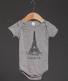Look what I found on #zulily! Gray 'C'est la Vie' Bodysuit - Infant by Skreened #zulilyfinds