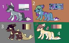 wolf adopts for adopts amino :3 my art pls don't steal, ty