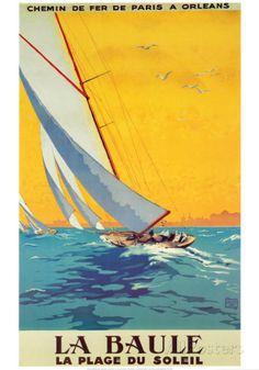 La Baule Posters tekijänä Alo (Charles-Jean Hallo) AllPosters.fi-sivustossa
