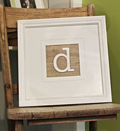 Rustic 4 tiered custom wood tree slice cupcake stand for wedding or party - X-Large Size, or can be used as a small shelf with other things on it. Framed Initials, Framed Burlap, Framed Monogram, Diy Wall Art, Diy Art, Wall Decor, Frame Crafts, Diy Crafts, Monogram Letters