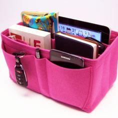 Felt Insert Handbag Organizer In Many Colors Sizes Organization