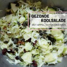Vandaag een gezond recept voor spitskool salade. Ik heb er appel, noten en zaden aan toegevoegd. Kool is een erg gezonde groente met veel vitamines..