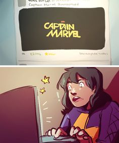 The person on the internet the most excited about the Captain Marvel movie: Kamala Khan.