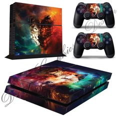 Abstract Wolf Sticker Skin for Playstation 4 PS4 Console  2 Free PS4 Controller skins ps4_10