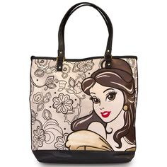 "Disney Belle Tote Bag New Disney Beauty and the Beast tote bag. Natural Canvas tote with faux leather trim, printed and embroidered appliqué details. Measures: W: 17""x 15"" x 6"" item by Loungefly. No holds or trades. No price negotiations on comment section please. Disney  Bags Totes"