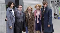 """Eddie with the """"Fantastic Beasts.."""" Cast"""