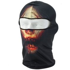 5fa6864cf0d EG  Skull Printed Balaclava Motorcycle Neck Full Face Mask UV Protection  Pret