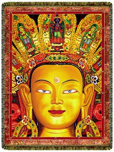 Lord Maitreya Tapestry Blanket Buddha, Throw Blankets, Great Gifts, Lord, Tapestry, Wall Art, Yoga Blanket, Healing Meditation, Painting