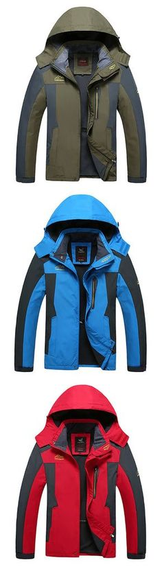 Plus Size Hooded Jacket: Water Resistant / Outdoor Sport&Climbing