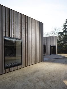 Châtelaine-Balexert Quarter House by Stendardo Menningen - Journal of . Wooden Cladding Exterior, Wooden Facade, House Cladding, Timber Cladding, Design Hotel, House Design, Wood Architecture, Forest House, House In The Woods