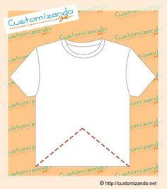 cortes de customização de camiseta Tranformar Roupas d098e29cec1