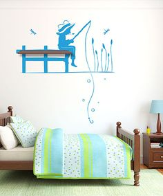 Take a look at this Light Blue & Walnut Gone Fishn' Wall Decal Set on zulily today!
