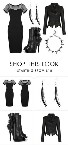 """""""Black Night Out"""" by rebelsmarket-0 on Polyvore featuring DateNight, rebel, NightOut, party and rebelsmarket"""