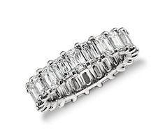 Brilliant Emerald Cut Diamond Eternity Ring in Platinum (5.00 ct. tw.)  #bluenile