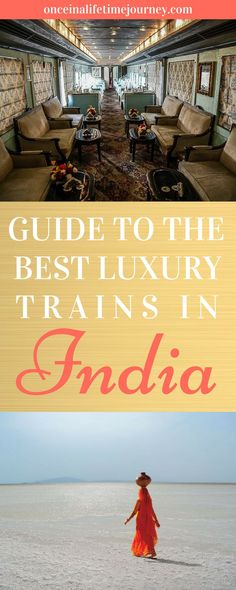 Can you think of a better way to explore India than on a Luxury Train? I cannot. Regal train cars, silverware, butlers, red carpets and royal sights. Luxury trains in India are the epitome of travel in the sub-continent and the best way to see the country. #luxury #india
