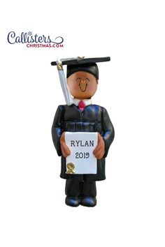 Great personalized keepsake ornaments for College Graduates! Celebrate graduation day with our 2019 collection of graduation hat ornaments, diploma ornaments and general graduation ornaments! Great as decorations for a graduation party too! Graduation Ornament, College Graduation Gifts, Hard Work And Dedication, New Career, Personalized Ornaments, African, Christmas, Decorations, Hat