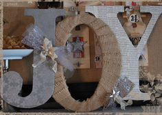 Chipboard letters decorated