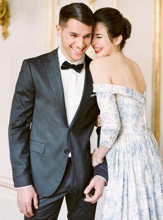 Glamorous Vienna Wedding Inspiration by Ashley Ludaescher Photography Glamorous Wedding, Luxury Wedding, Elegant Wedding, Wedding Bride, Dream Wedding, Wedding Dress Patterns, Blue Wedding Dresses, Wedding Gowns, Blue Dresses