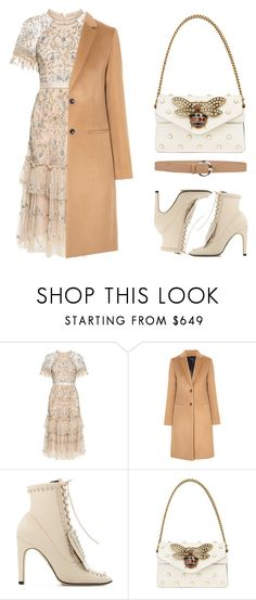 """Untitled #1735"" by ainara26 ❤ liked on Polyvore featuring Needle & Thread, Joseph, Sergio Rossi, Gucci and Orciani"
