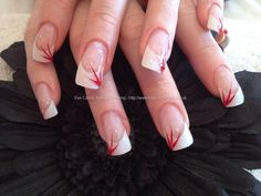 eye candy Nails & Training - Nails Gallery: Acrylic nails with red flicks by Nicola Senior on 25 July 2012 at 15:50