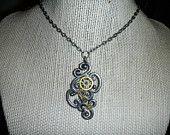 Super cute Steampunk necklace DevilFish >=)))*>