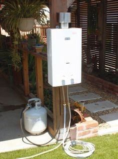 Outdoor Shower The Water Heater Eccotemp Works