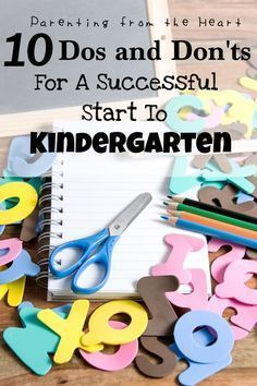 The day has come to send your child off to school for the very first time in kindergarten! It is exciting for your child. However, there are some things that you need to do to prepare your kindergartener for this day. Parenting from the Heart shares a list of ten dos and don'ts that you need to know for kindergarten readiness for the first day of school. There is also a free printable of this list! Kindergarten Preparation, Starting Kindergarten, Kindergarten Readiness, Starting School, Kindergarten First Day, Preschool Curriculum, School Readiness, Beginning Of School, Kindergarten Classroom
