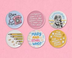 The Glass Bottom Boat button set featuring illustrations, quotes, and Doris Day. Glass Bottom Boat, Make Ready, Anniversary Sale, Grace Kelly, Lapel Pins, Coupon Codes, Magnets, Patches, Buttons