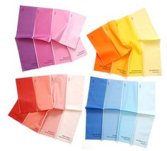 Napkins  Paint Chips Set of 4  bright summer by avrilloreti, $60.00
