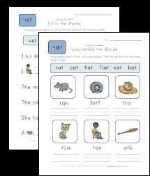 word family spelling worksheets